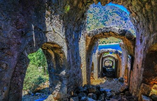 Byzantine ruins on St Nicholas Island, Turkey