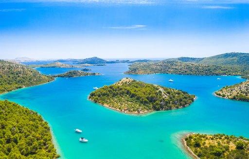 Pakleni Islands in Croatia