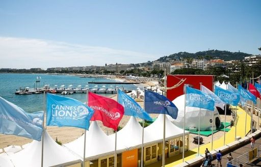 Stands lined up in Cannes for Cannes Lions 2019