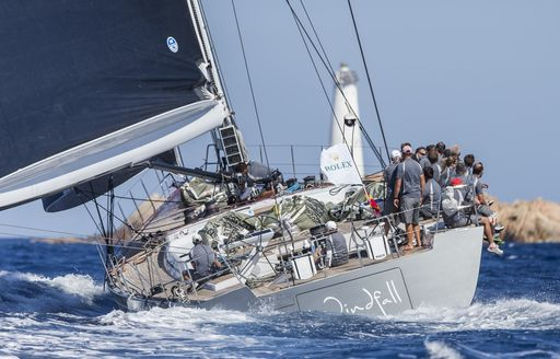 charter yacht WINDFALL competes in Les Voiles de Saint Barth