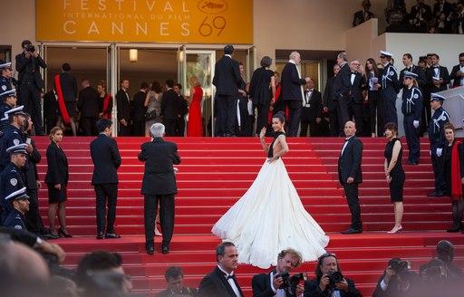 Supermodel in cannes for film festival