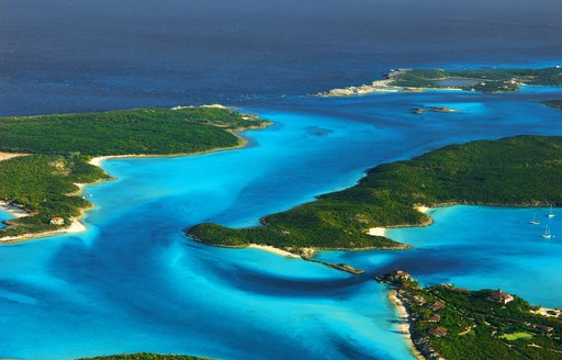 aerial view of bahamas islands