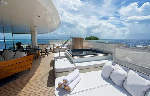 outdoor area for charter guests