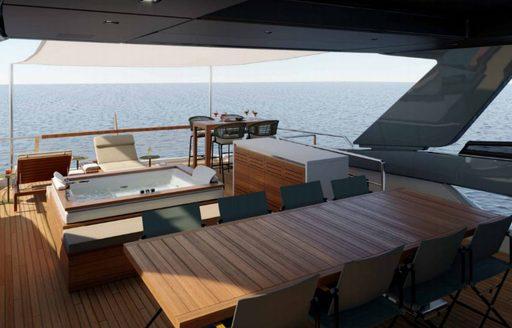noor luxury yacht flybridge