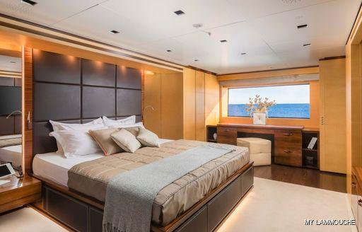 master cabin onboard MY Lammouche