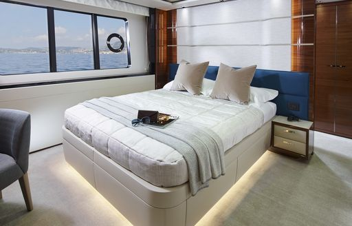 sophisticated master suite on board luxury yacht KOHUBA