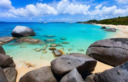 beautiful beach on Virgin Gorda in the British Virgin Islands