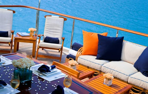 M4 yacht alfresco seating and deck area