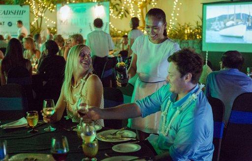 enjoying dinner at Kata Rocks Superyacht Rendezvous 2016