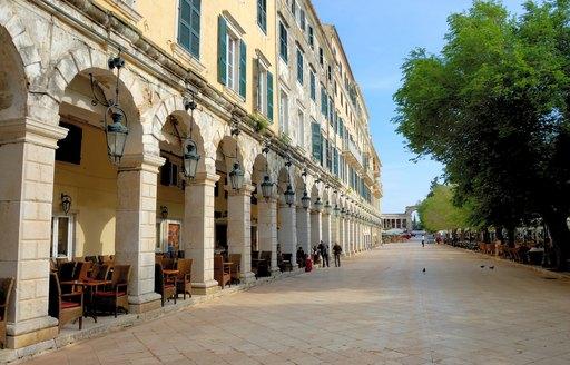 Parisian promenade The Liston in Corfu, Greece
