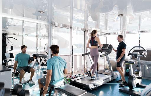 Gym onboard MY Titania