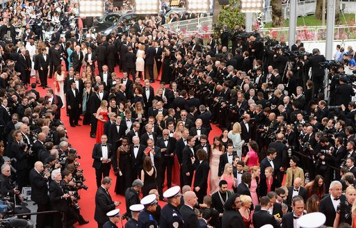 Celebrities on the red carpet for the Cannes Film Festival 2014