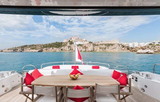 yacht palumba dining area
