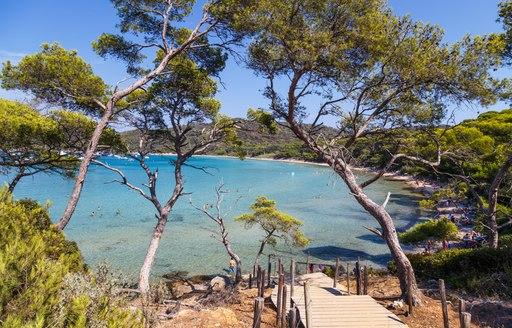 Southern france beach Porquerolles