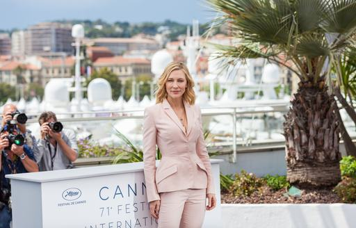 Cate Blanchett attends Cannes Film Festival as head of the Jury for 2018, pictured here standing in front of superyachts available for rental