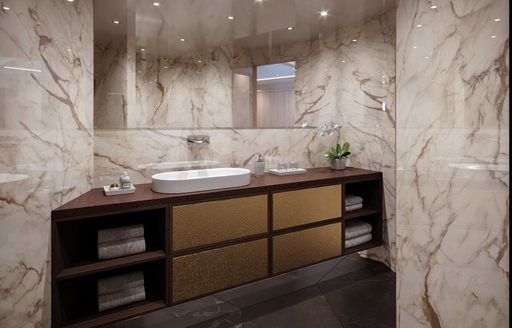 Sink in ensuite on sailing yacht Love Story