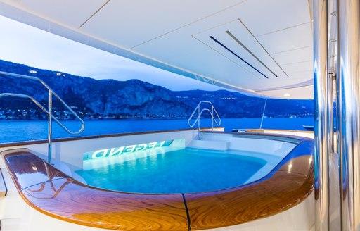 LEGEND jacuzzi pool on exterior decks
