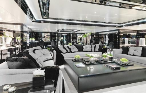 superyacht silver angel communal space