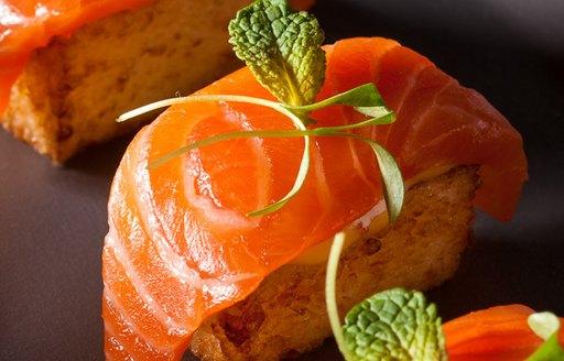 sushi at Dune Restaurant in the Bahamas