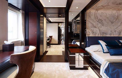 Lady Li superyacht master cabin detail