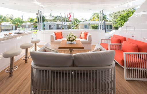 day one yacht lounge area