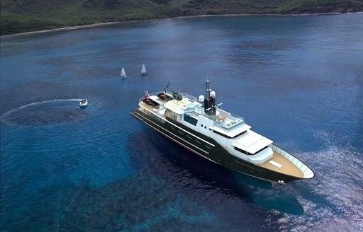 superyacht Highlander cruises in Monaco on Charter