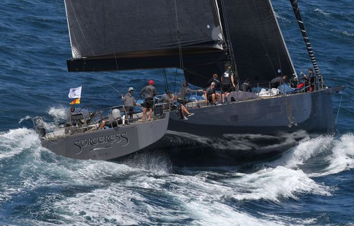 sailing yacht SORCERESS in action at the RORC Caribbean 600