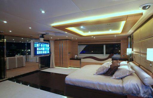 upper deck master suite on board luxury yacht TATIANA