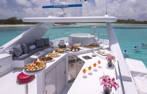 At Last yacht wet bar