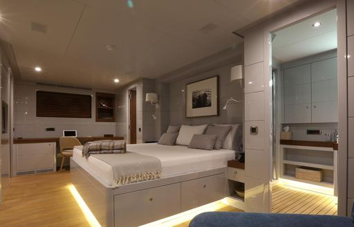 owners suite on luxury yacht only now