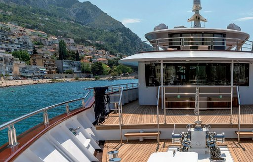 Yacht Queen Eleganza's bridge deck