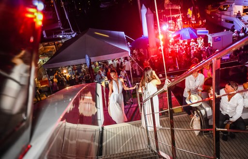 model catwalks on motor yacht Thailand Yacht Show at the Thailand Yacht Show 2016