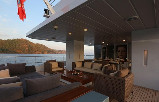 superyacht only now aft deck seating area
