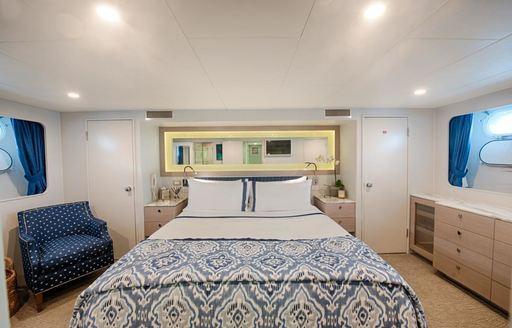 elegant master suite on board luxury yacht DREAMTIME