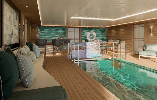 Beach club onboard MY Victorious