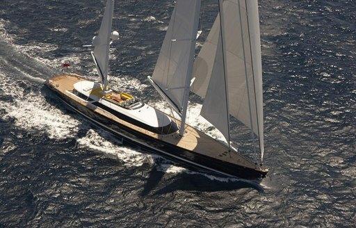Charter yacht Mondango 3 is a finalist for Best Interior sailing Yacht