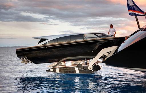 Extended tender on sailing yacht VERTIGO