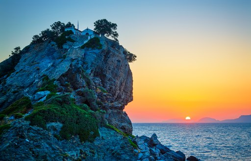 Rock on Alonissos in the Sporades Islands, Greece