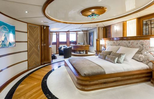 Master stateroom on LEGEND yacht