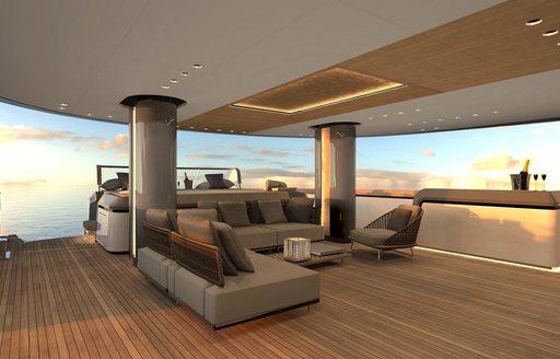 deck on superyacht geco