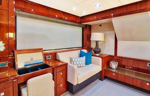 the cabana motor yacht interiors