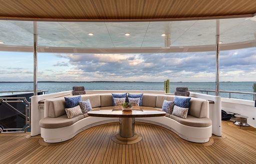 Feadship motor yacht PICNIC outdoor area