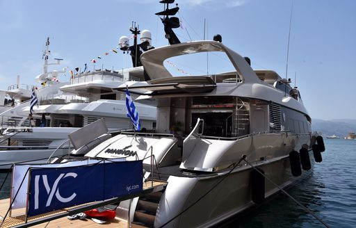 Superyacht PANDION on display at the Mediterranean Yacht Show 2017
