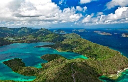 Beautiful landscapes in US Virgin Islands