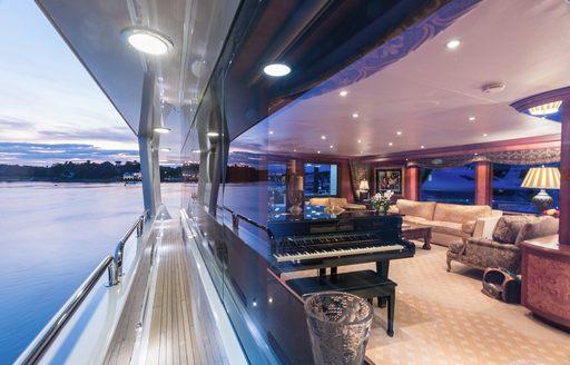 Saloon on yacht Shogun