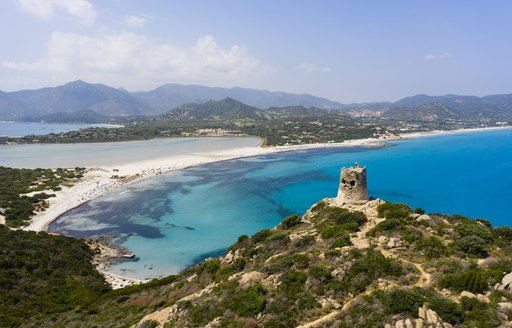 tranquil bay for yacht charters in sardinia, italy