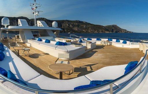 Superyacht Serenity's exterior decks