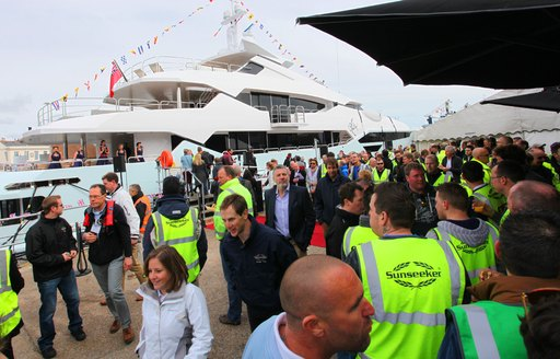 New Sunseeker yacht BLUSH at her launch