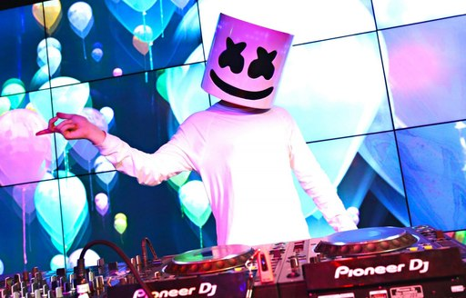 DJ Marshmallo starting his set at a private after party on the first day of Abu Dhabi Grand Prix 2019