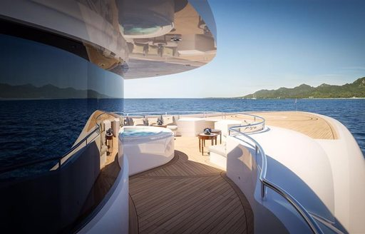 spa pool and seating area on board benetti superyacht SPECTRE
